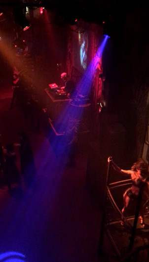 DJ spinning sick beats at Bar Sinister