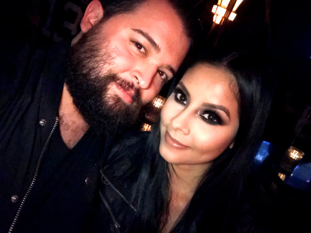 My husband and me at Bar Sinister