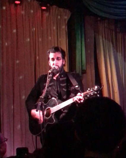 """Aurelio Voltaire performing his opening number, """"The Man Upstairs"""""""