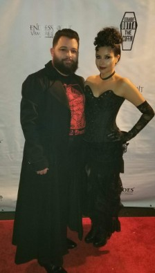 My husband and me decked out in our finest