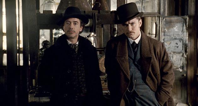 Robert Downey Jr. and Jude Law in Sherlock Holmes (Photo courtesy of moviestillsdb.com)