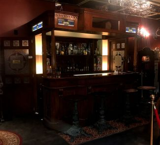 An exterior view of the bar in the Redrum Parlor