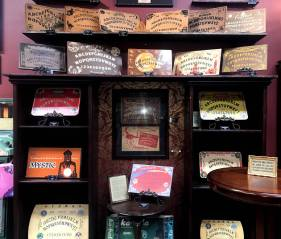 Spirit boards at The Mystic Museum