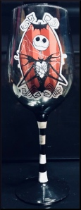 I love drinking a glass of red out of my Jack Skellington wine glass