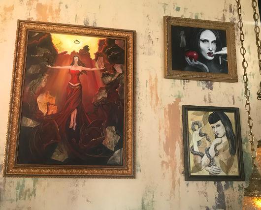 Artwork on display at The Cauldron