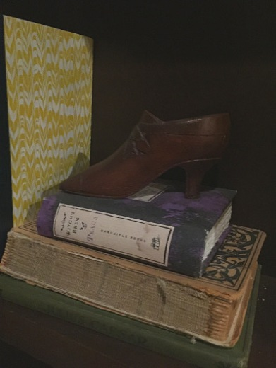 A closer look at the bookcase's smaller details