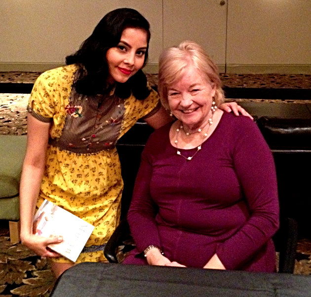 Photo with Lois Banner, author of