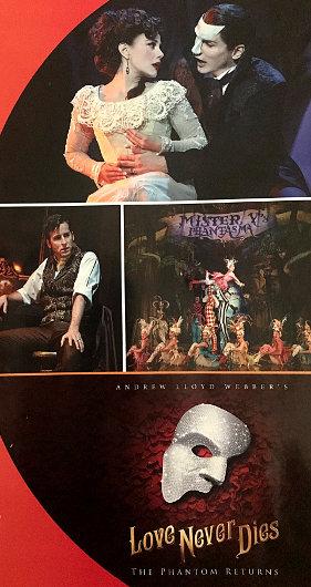 """The Segerstrom Center for the Arts program cover for """"Love Never Dies"""""""
