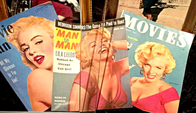 Marilyn Monroe gracing the covers of magazines