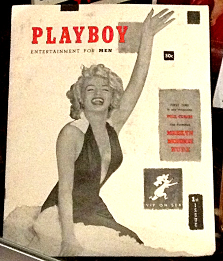 The first issue of Playboy featured Marilyn Monroe as the cover girl