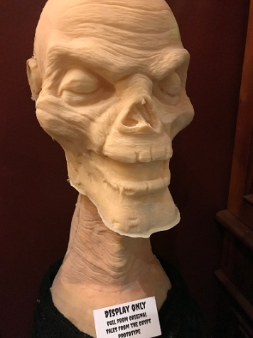 "A mold of the ""Tales from the Crypt"" prototype"