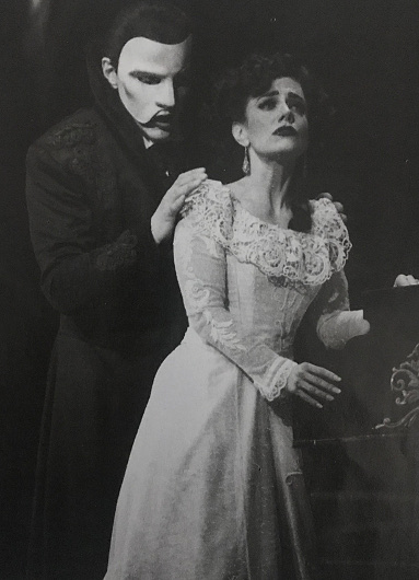 "The Phantom and Christine Daaé in ""Love Never Dies"" (Photo by Joan Marcus)"