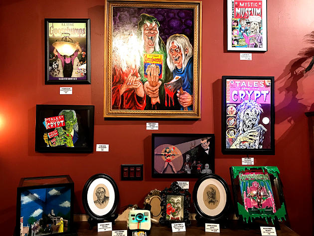 """Pieces on display at the """"Tales from the Crypt"""" and """"Goosebumps"""" Art Show"""