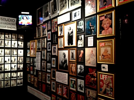 Wall of iconic Marilyn Monroe images