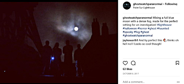 Ghost Watch Paranormal out on an investigation (Photo from the Ghost Watch Paranormal Instagram page)