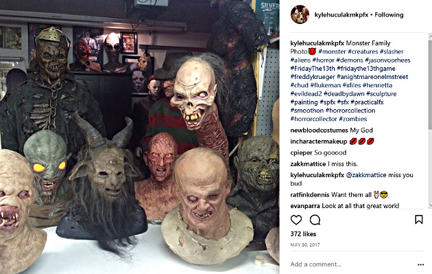 Monstrous creations by special effects makeup artist Kyle Huculak (Photo from the Kyle Huculak Instagram page)