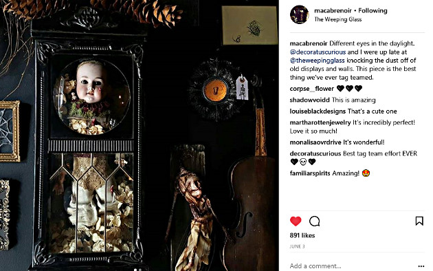 A peek at Macabre Noir's creativity (Photo from the Macabre Noir Instagram page)