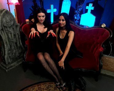 Model Heather Rae played the role of Vampira for the night