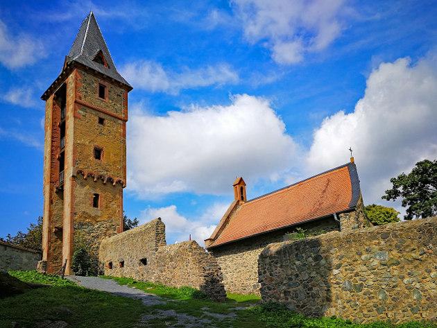 Castle Frankenstein in the Odenwald in Germany