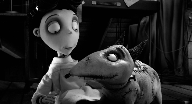 Characters Victor and Sparky from Tim Burton's