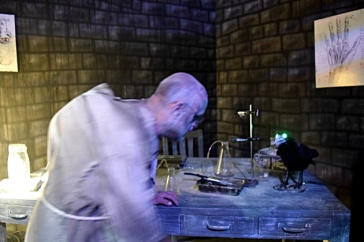 Igor inside the Castle Frankenstein Portal Experience at Midsummer Scream