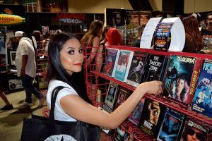 Browsing the Slashback Video and Bar at Midsummer Scream
