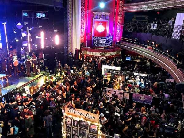 A view of the main floor at The Oddities Flea Market inside the Globe Theatre