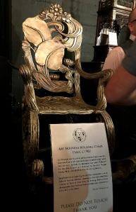 Art Nouveau Rocking Chair circa 1902, part of Century Guild's display