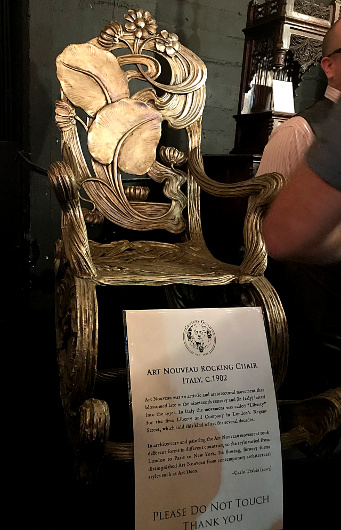 Art Nouveau Rocking Chair circa 1902, part of Century Guild's display