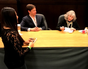 "Star struck as Anne Rice signs my copy of ""Ramses the Damned: The Passion of Cleopatra"""