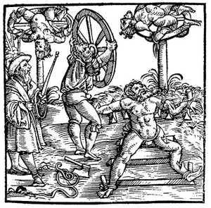 Breaking Wheel in Augsburg, Bavaria, circa 1586