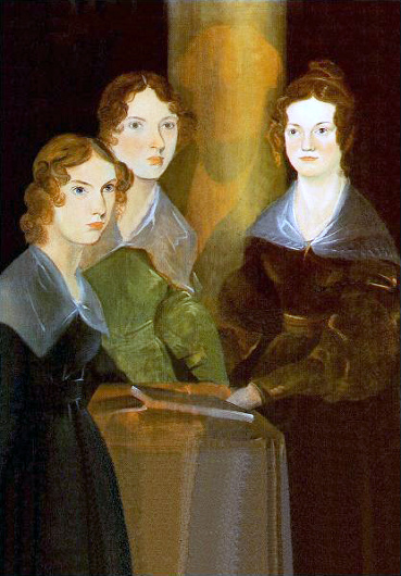 """Painting of the 3 Brontë Sisters"" by their brother Branwell Brontë (From left to right: Anne, Emily and Charlotte Brontë)"