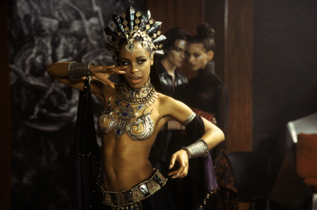 "Aaliyah as Akasha in the film adaptation of ""Queen of the Damned"" (© Warner Bros.)"