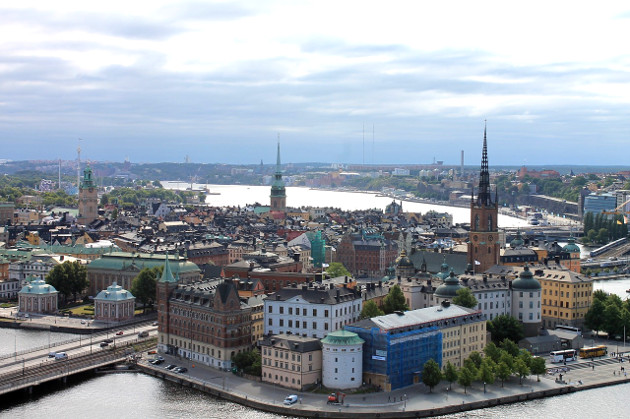 A view of Stockholm, Sweden, the setting of Stieg Larsson's Millennium Trilogy
