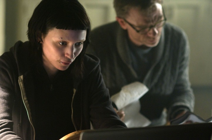 "Rooney Mara, left, and Daniel Craig in ""The Girl With The Dragon Tattoo"" (© Columbia Pictures)"