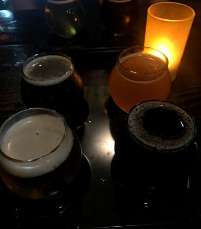 Beer flight at Phantom Carriage