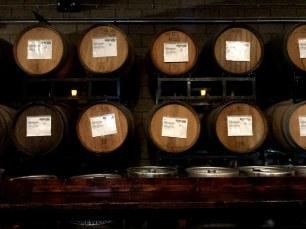 Barrels of beer at Phantom Carriage