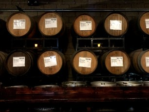 Barrels of beer at Phantom Carriage