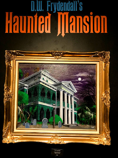 """The Haunted Mansion"" painting"