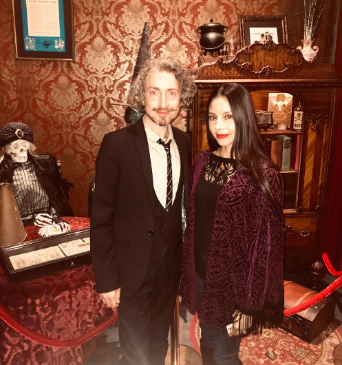 Photo with jewelry historian and lecturer Lord Hayden Peters, the man behind Art of Mourning