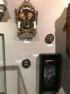 """From top to bottom: """"In Ictu Oculi"""" by Meagan Meli; """"Transformative Sphere - Vortex,"""" """"King"""" and """"Transformative Sphere - Hatch"""" by Nathan Cartwright"""