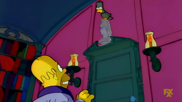 "The Simpsons adapt Edgar Allan Poe's ""The Raven"" in the first ""Treehouse of Horror"" episode (Photo courtesy of IMDb.com)"