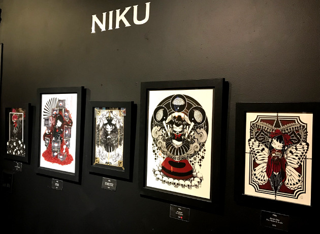 Works by artist Niku for