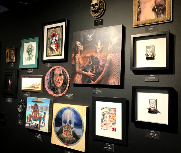Dark art pieces from past exhibits