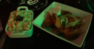 From left to right: Cheshire Mac & Cheese and Willy Wings