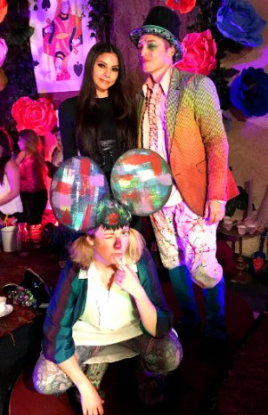 Photo with the Mad Hatter and Dormouse
