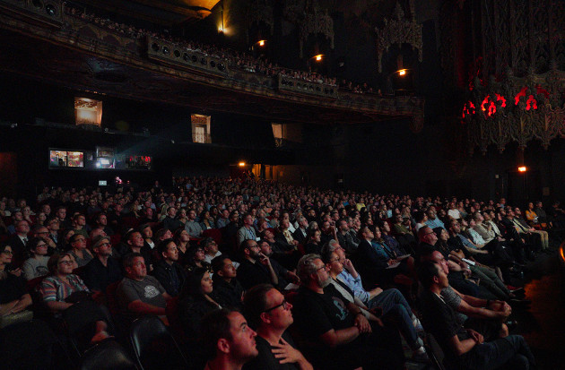 "LA Opera Off Grand's 2019 screening of ""Psycho"" at The Theatre at Ace Hotel (Photo Credit: Lawrence K. Ho)"