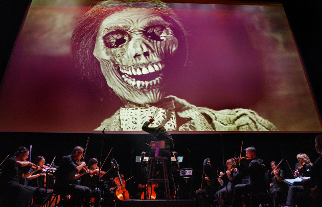 "LA Opera's 2019 screening of ""Psycho"" at the Theatre at Ace Hotel (Photo Credit: Lawrence K. Ho)"