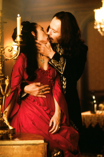 "Winona Ryder as Mina Harker and Gary Oldman as the Count in Francis Ford Coppola's ""Dracula"""