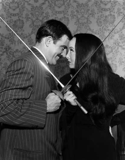 "Gomez and Morticia from the 1960s TV series ""The Addams Family"""